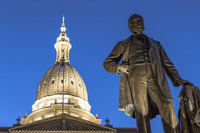Photograph - Top Of Michigan State Capitol by John McGraw