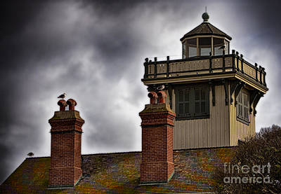 Photograph - Top Of Point Fermin Lighthouse by Donna Greene