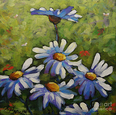 Canadiens Painting - Top Of The Bunch Daisies By Prankearts by Richard T Pranke