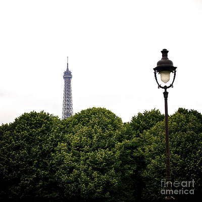 Top Of The Eiffel Tower And Street Lamp. Paris.france. Art Print by Bernard Jaubert