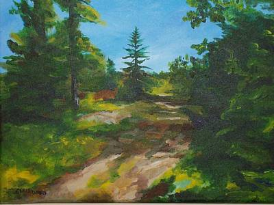 Maine Roads Painting - Top Of The Hill by Chris Wing