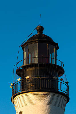 Photograph - Top Of The Key West Lighthouse  by Ed Gleichman