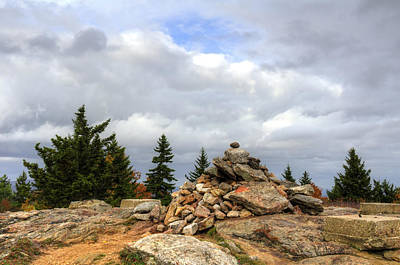 Rock Photograph - Top Of The Mountain by Donna Doherty