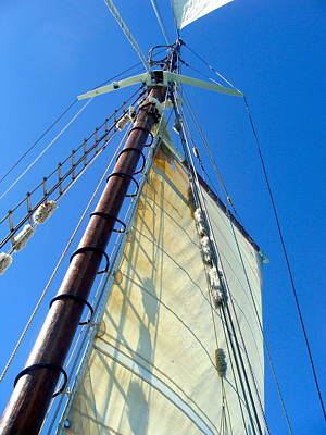 Swim Ladder Photograph - Top Of The Ship by Antoinette  Andersen