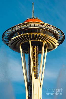 Space Needle Wall Art - Photograph - Top Of The Space Needle by Inge Johnsson