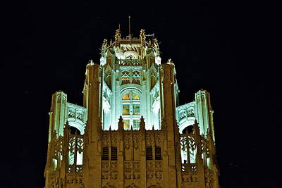 Top Of The Tribune Tower Art Print