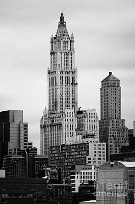 top of the Woolworth and transportation building 233 Broadway new york city Art Print by Joe Fox