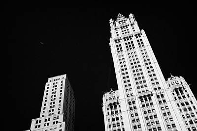 top of the Woolworth building 233 Broadway and transportation new york Art Print