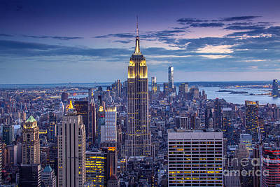 Empire State Photograph - Top Of The World by Marco Crupi