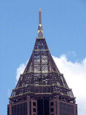 Photograph - Top Of Tower Of Bank Of America Plaza by Georgia Hamlin