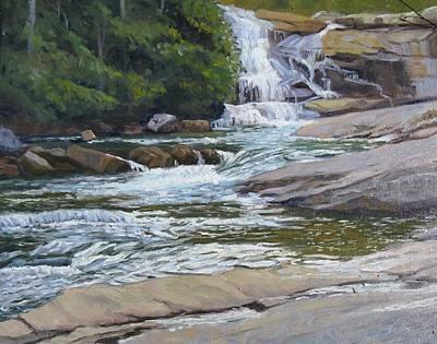 Dupont Painting - Top Of Triple Falls by Joseph Kotowski