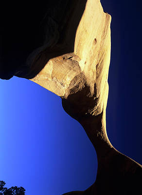 Arches National Monument Photograph - Top Span Of Metate Arch In Devil's by Jerry Ginsberg