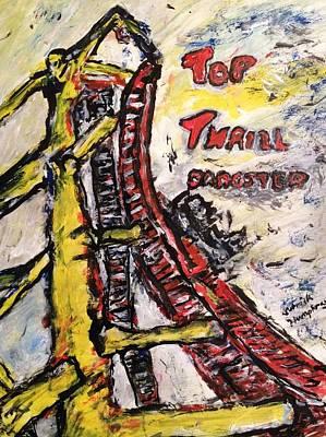 Roller Coaster Mixed Media - Top Thrill Dragstar by Patrick Humphreys