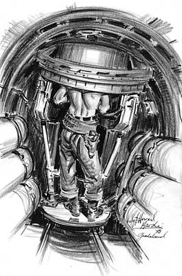 Brodie Photograph - Top Turret B-17 1943 by Padre Art