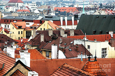 Top View In Prague Print by John Rizzuto