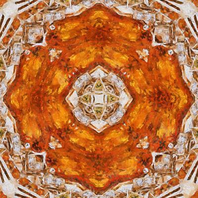 Digital Art - Topaz And Peridot Kaleidoscope by Charmaine Zoe