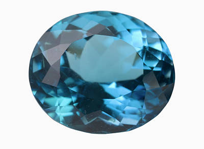 Topaz Gem Art Print by Science Stock Photography/science Photo Library