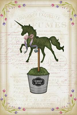 Shrubbery Painting - Topiary Unicorn I by Jennifer Pugh