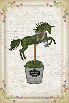 Shrubbery Painting - Topiary Unicorn II by Jennifer Pugh