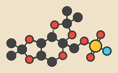 Bipolar Photograph - Topiramate Epilepsy Drug Molecule by Molekuul