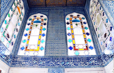 Photograph - Topkapi Palace Colored Windows And Tile by Haleh Mahbod