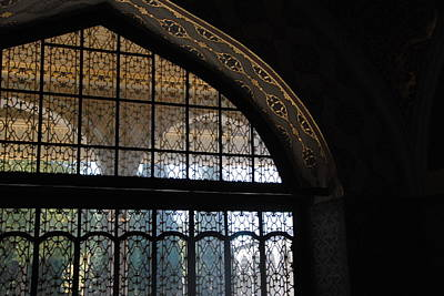 Photograph - Topkapi Palace Elegant Window  Detail by Jacqueline M Lewis