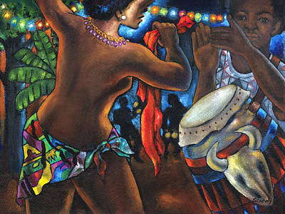 Art Print featuring the painting Topless Dancer by Artists With Autism Inc