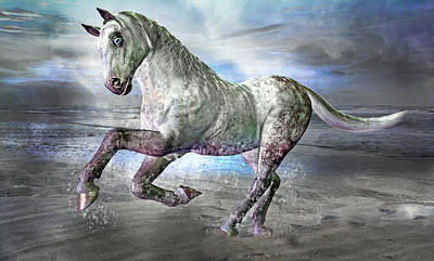 Surrealism Mixed Media - Topsail Gallop by Betsy Knapp