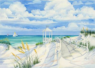 Gazebo Painting - Topsail Hill by Paul Brent