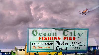 Topsail Island 1996 Ocean City Print by Betsy Knapp