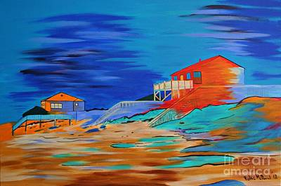 Topsail Island Painting - Topsail Island by Heike McDoniel