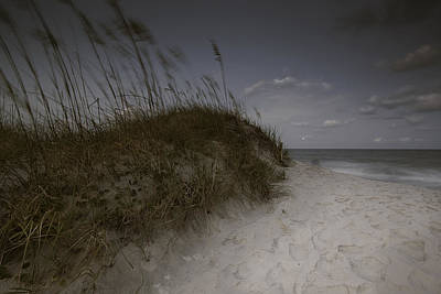 Photograph - Topsail Island North Carolina Full Moon Rise by Gray  Artus