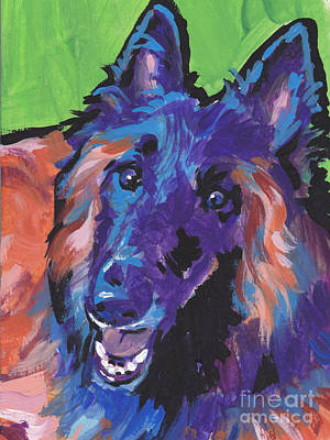 Dog Pop Art Painting - Topsy Tervy by Lea S
