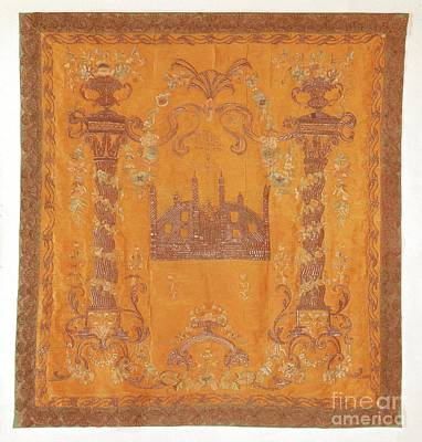 Hebrew Painting - Torah Ark Curtain by Celestial Images