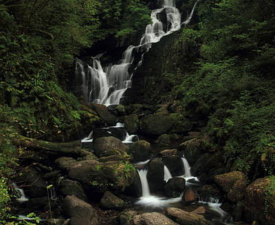 Torc Waterfall Art Print by Peter Skelton