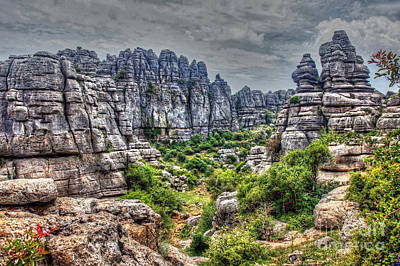 Photograph - Torcal Rocks by Rod Jones