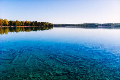 Photograph - Torch Lake Morning by Lars Lentz