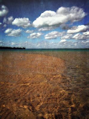 Boating Digital Art - Torch Lake Sandbar 2.0 by Michelle Calkins