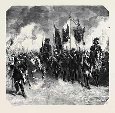 Berlin Drawing - Torchlight Procession Of The Students In Berlin In Honour by German School