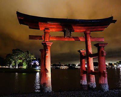 Photograph - Torii Gate by Nora Martinez