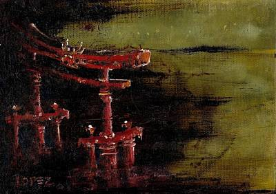 Torii Art Print by Julio Lopez