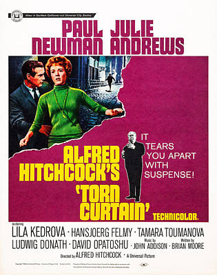 Films By Alfred Hitchcock Photograph - Torn Curtain, Us Poster Art, From Top by Everett