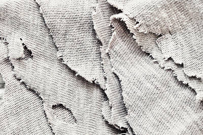 Torn Clothing Photograph - Torn Fabric by Tom Gowanlock