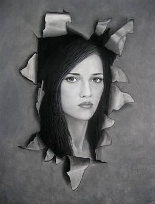 Tears Drawing - Torn by Lynet McDonald