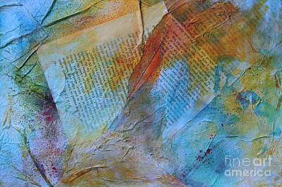 Mixed Media - Torn Pages by Sandra Taylor-Hedges