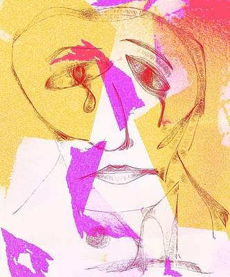 Digital Art - Torn Self -ipad Sketch by Michael Hope