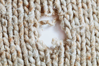Defects Photograph - Torn Wool by Tom Gowanlock