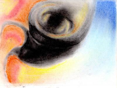 Tornado Drawing - Tornado Abstract Drawing by Ray B