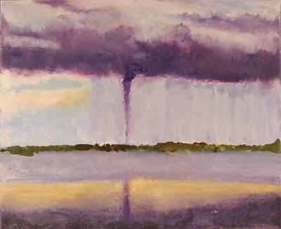 Encaustic Painting - Tornado - Big Pine Key Fl - April 14 2005 by Marilyn Fenn