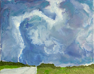 Encaustic Painting - Tornado - Dallas Tx - July 23 2005 by Marilyn Fenn